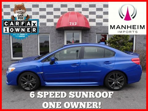 2017 Subaru WRX Premium 6 Speed Sunroof AWD