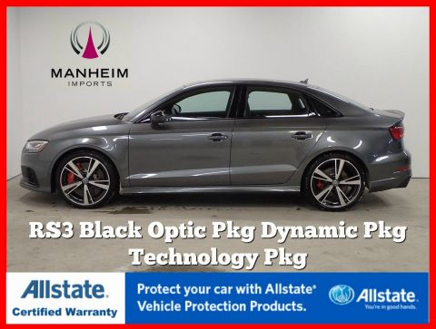 Pre-Owned 2018 Audi RS 3 Black Optic Dynamic