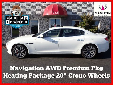 2014 Maserati Quattroporte S Q4 AWD NAV With Navigation & AWD
