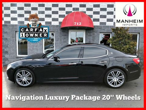 2014 Maserati Ghibli S Q4 AWD NAV With Navigation & AWD