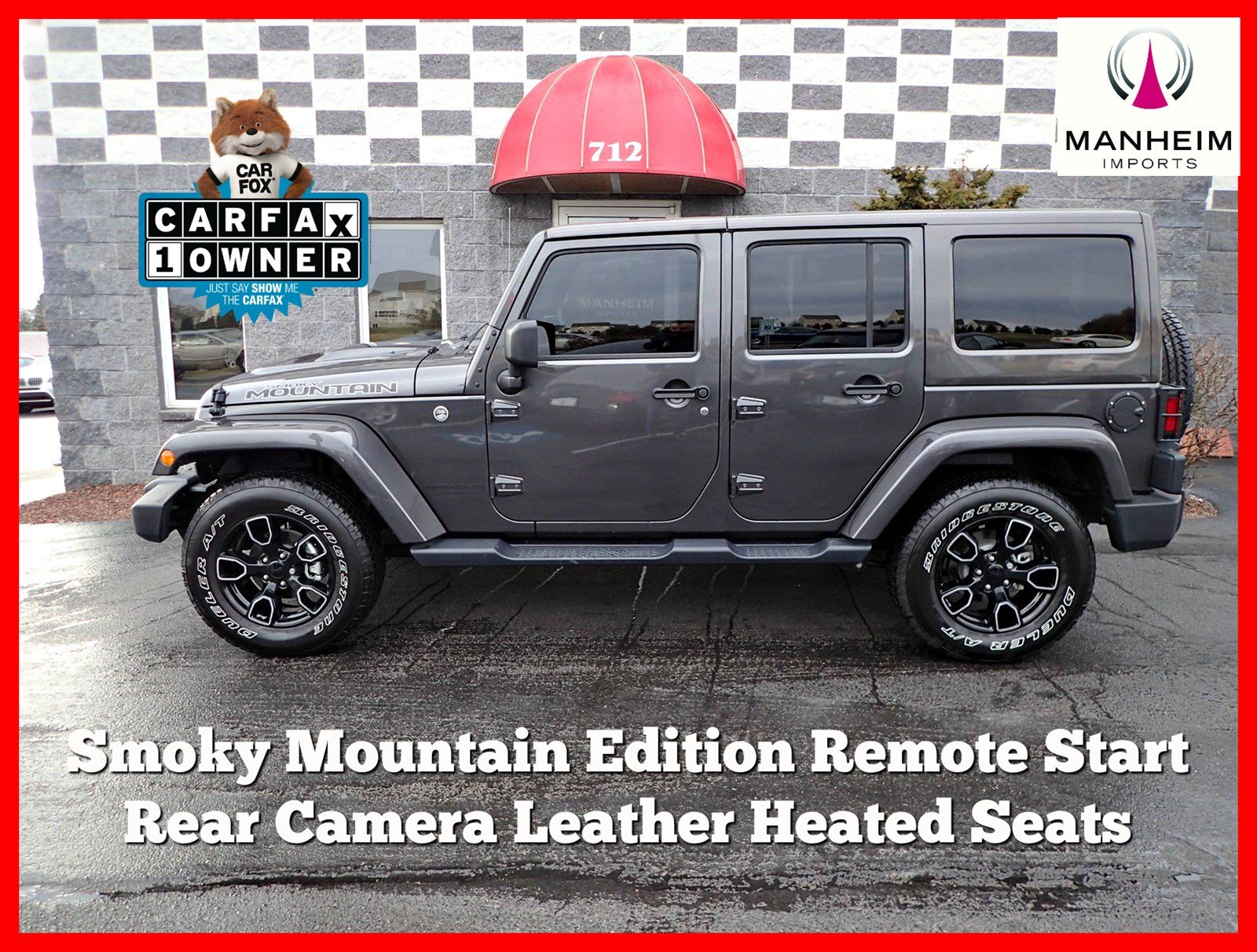 Pre-Owned 2017 Jeep Wrangler Unlimited Smoky Mountain