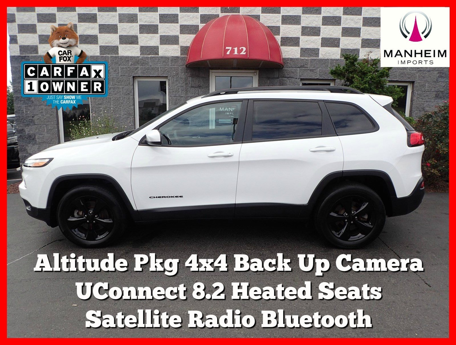 Pre-Owned 2016 Jeep Cherokee Altitude Pkg 4x4