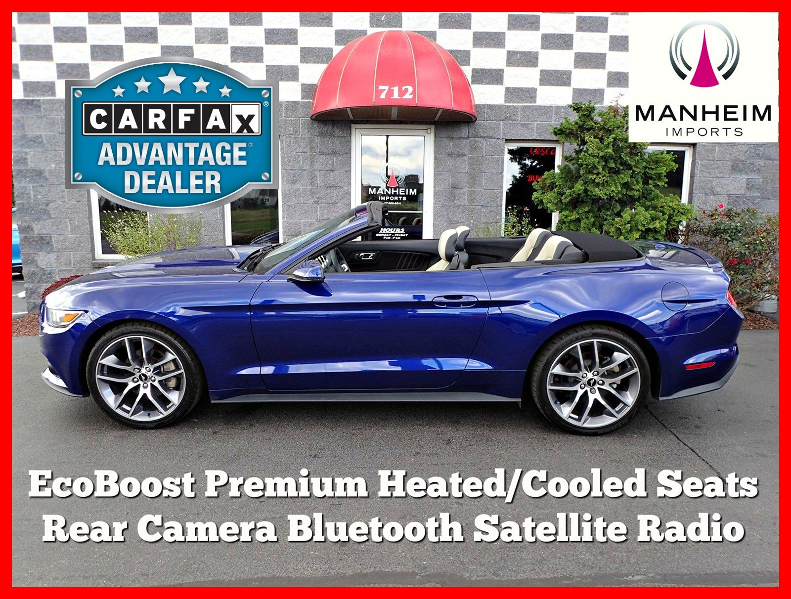 Pre Owned 2015 Ford Mustang EcoBoost Premium Convertible in Manheim