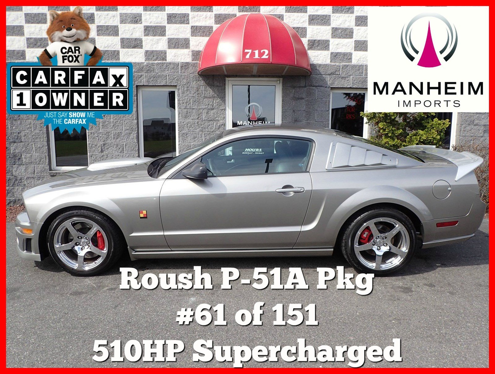 Pre-Owned 2008 Ford Mustang GT Roush P-51A 61 of 151