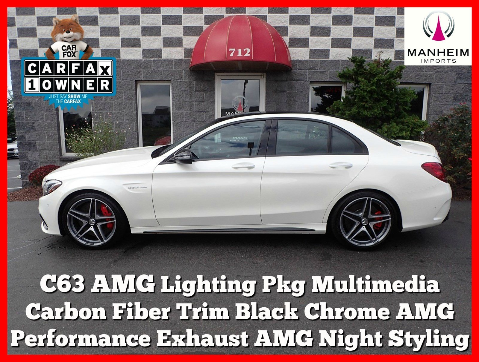 Pre Owned 2016 Mercedes Benz C Class AMG C63 S Sedan 4dr Car in
