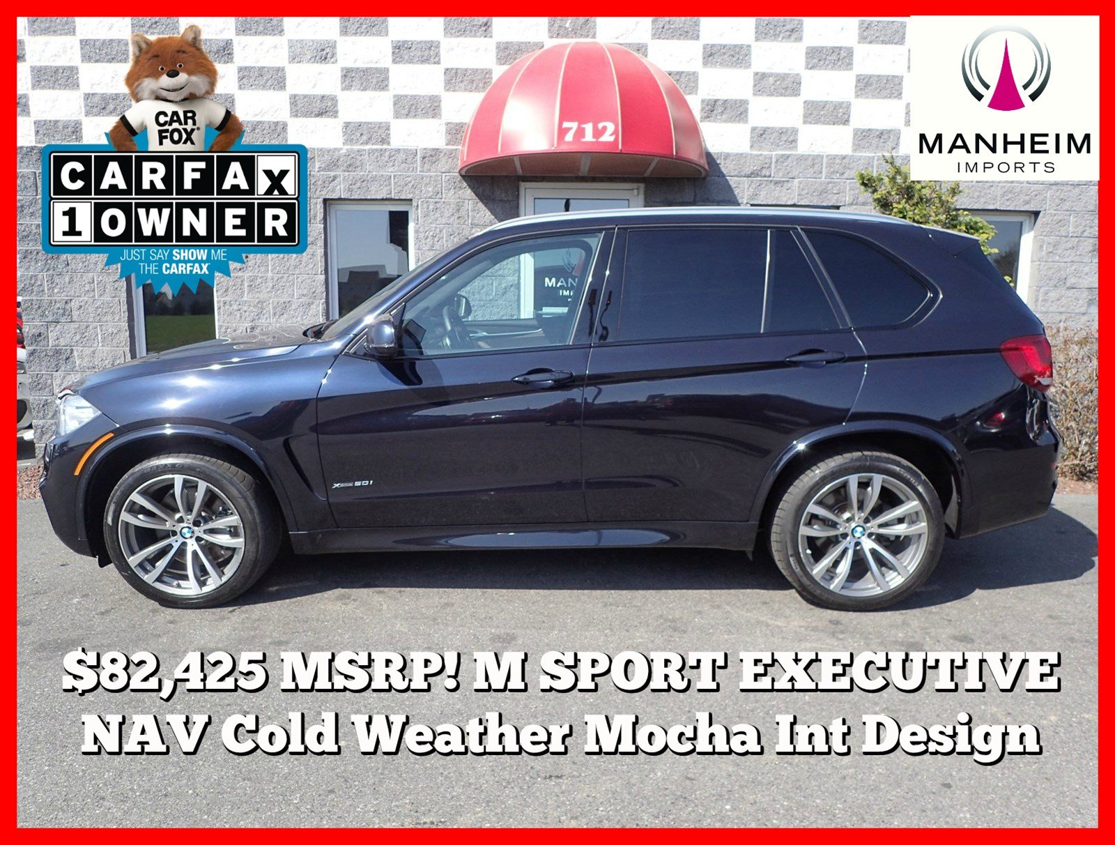 Pre-Owned 2014 BMW X5 xDrive50i M Sport MSRP $82,425!