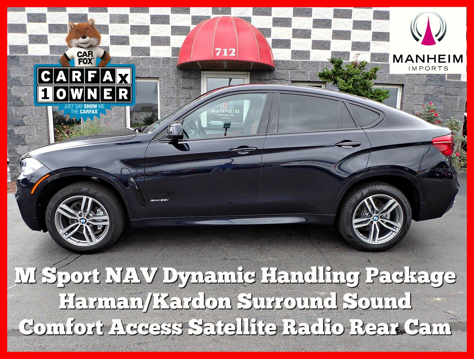 Pre Owned 2016 BMW X6 xDrive35i M Sport Sport Utility in Manheim