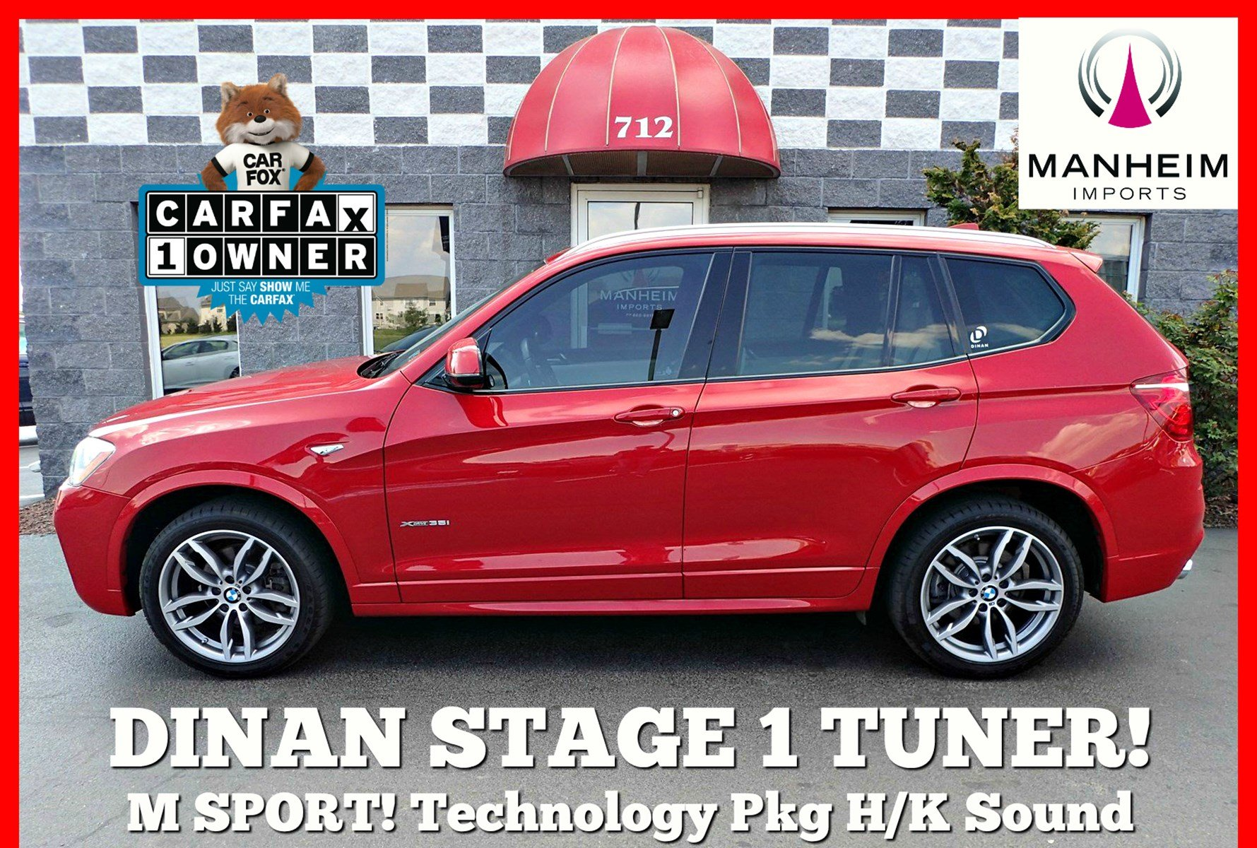 Pre-Owned 2017 BMW X3 xDrive35i M Sport Dinan Stage 1
