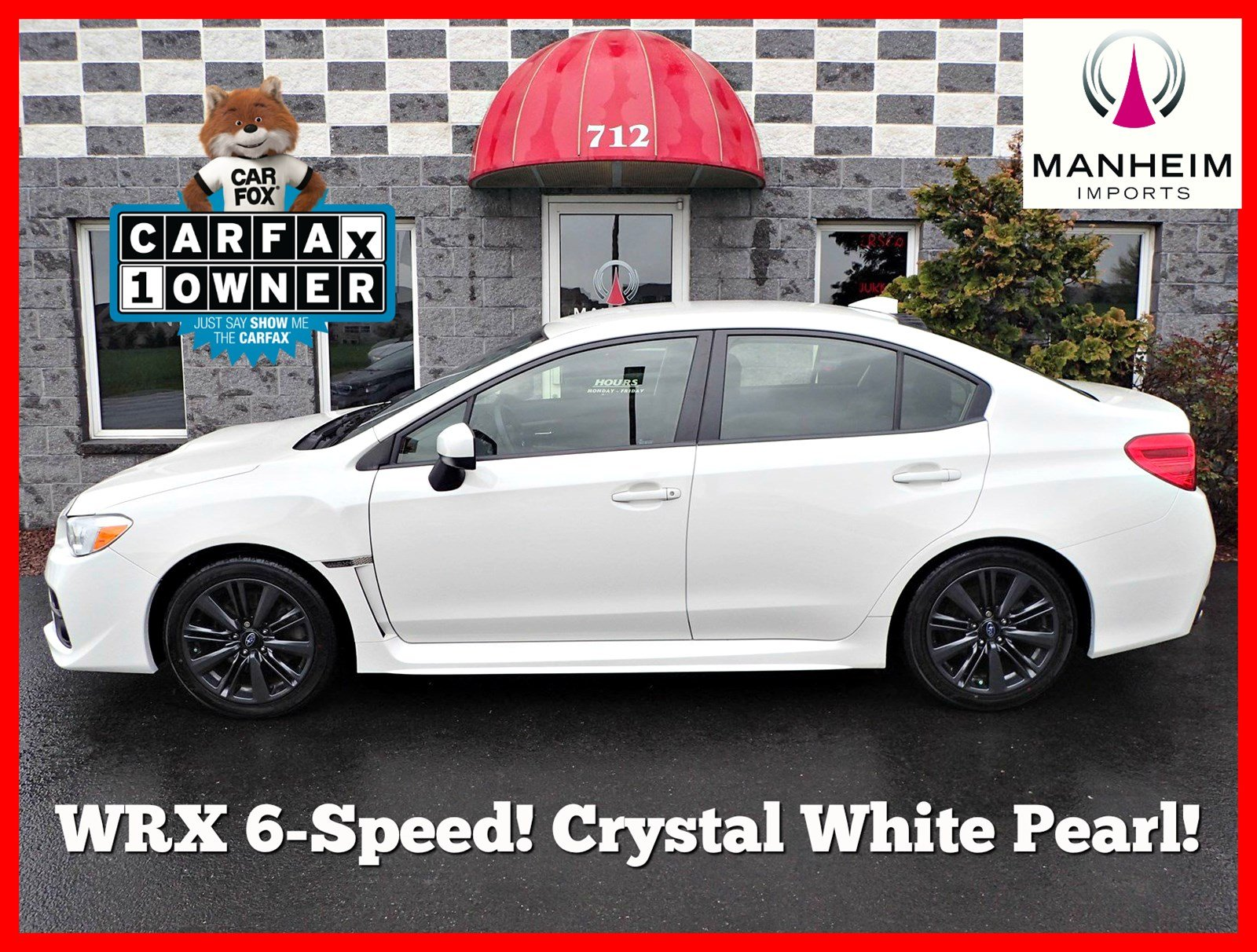 Pre-Owned 2015 Subaru WRX 6 Speed
