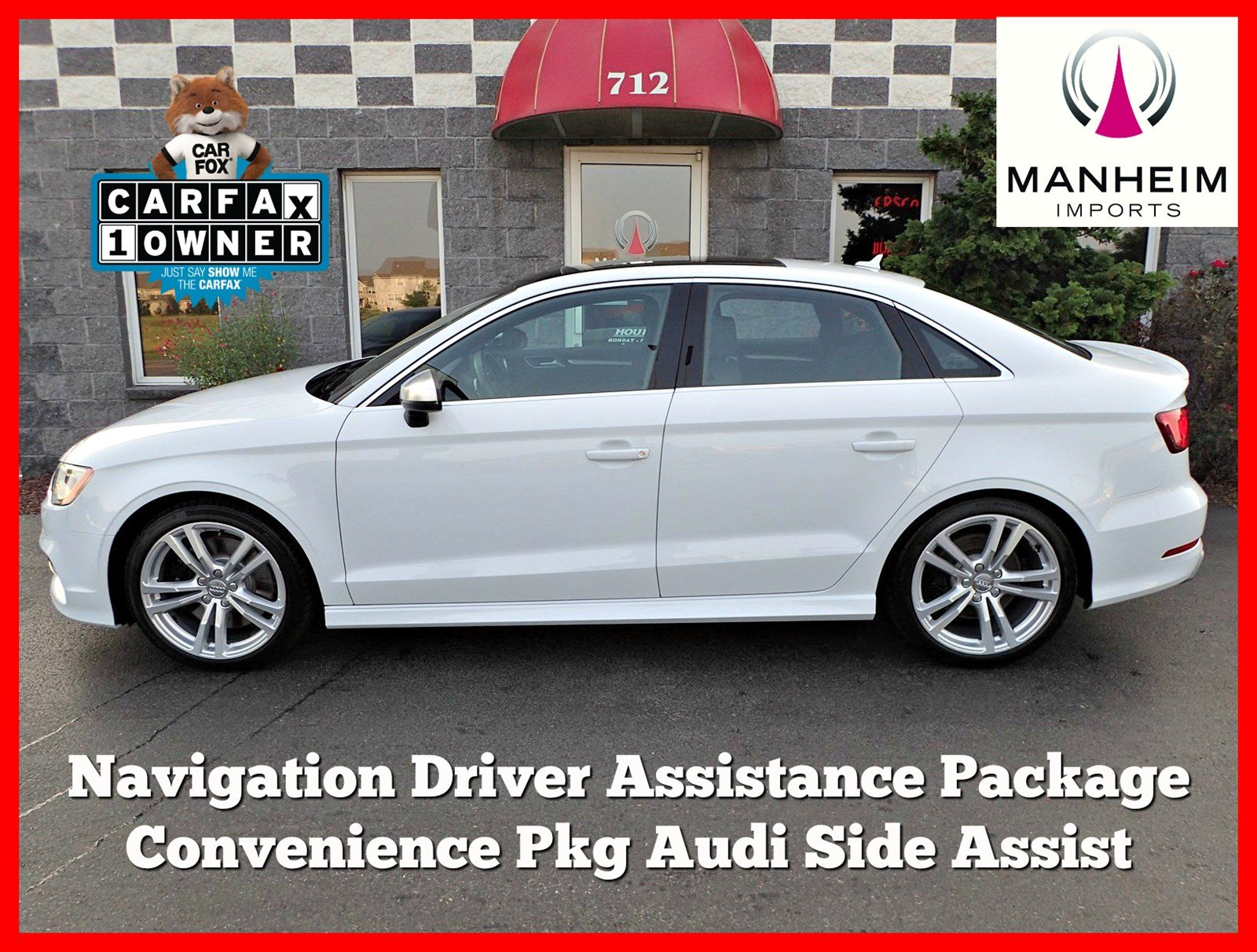 Pre Owned 2015 Audi S3 2 0T Premium Plus NAV 4dr Car in Manheim