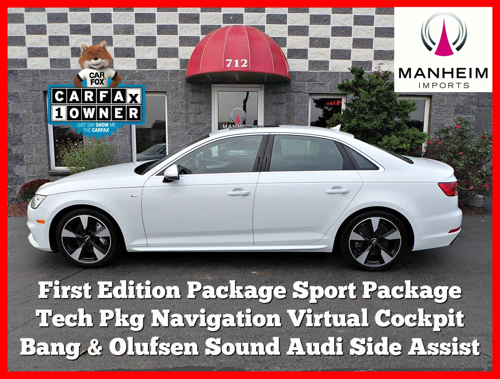 Pre Owned 2017 Audi A4 Premium Plus First Edition Package 4dr Car in