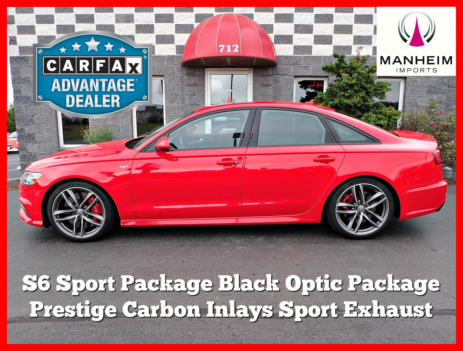 Pre Owned 2017 Audi S6 Prestige Sport Black Optic 4dr Car in Manheim