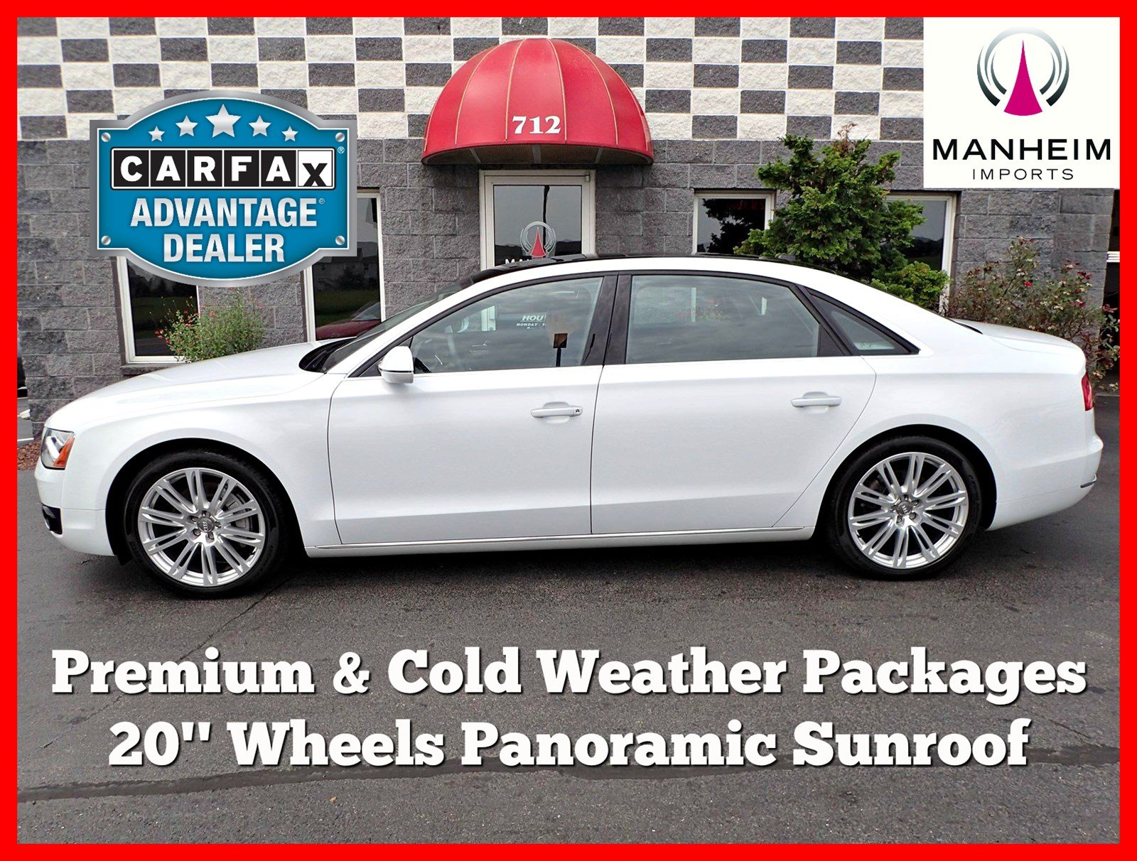 Pre Owned 2014 Audi A8 L TDI PREMIUM 4dr Car in Manheim