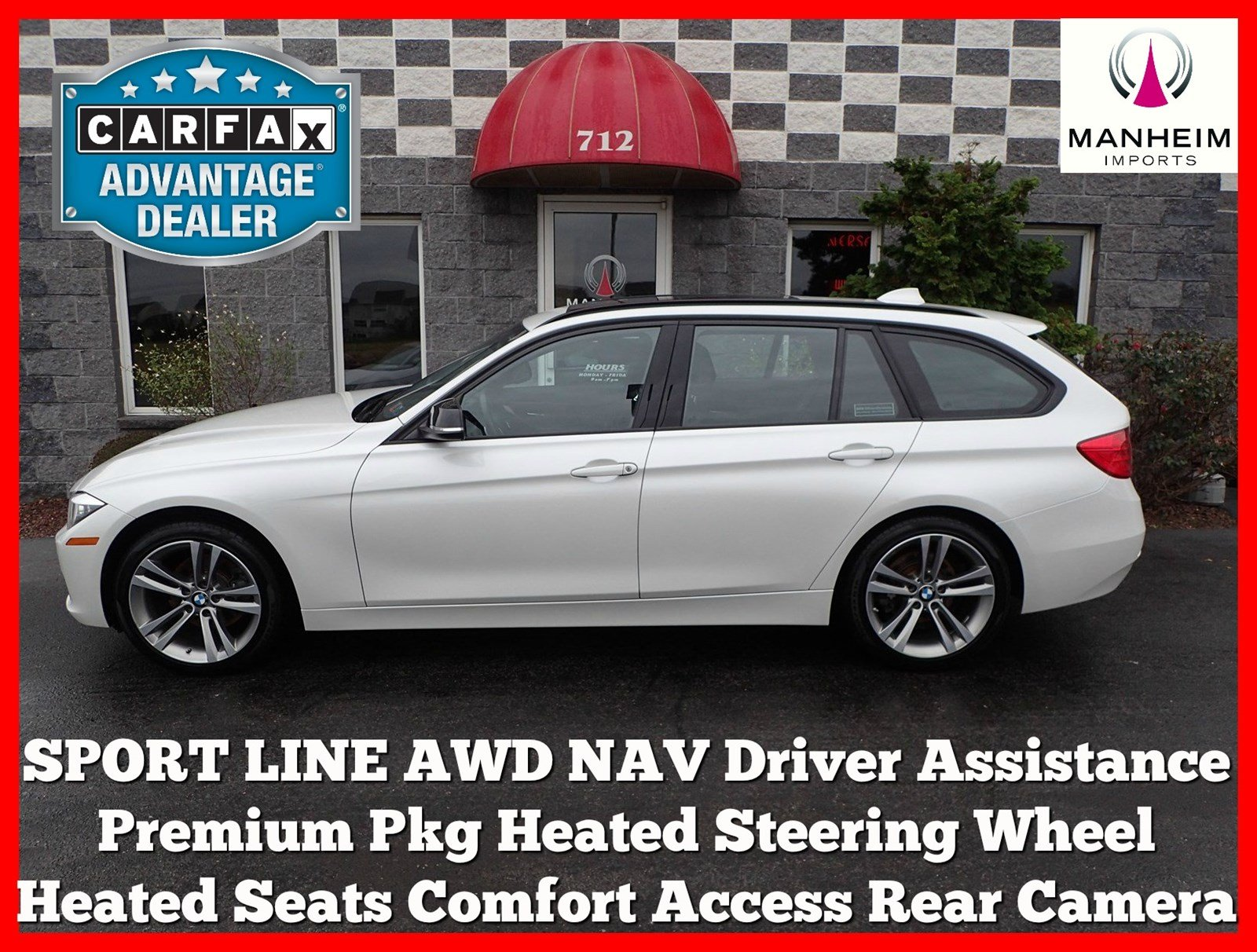 Pre Owned 2014 BMW 328i xDrive Wagon Sport Line NAV Station Wagon in