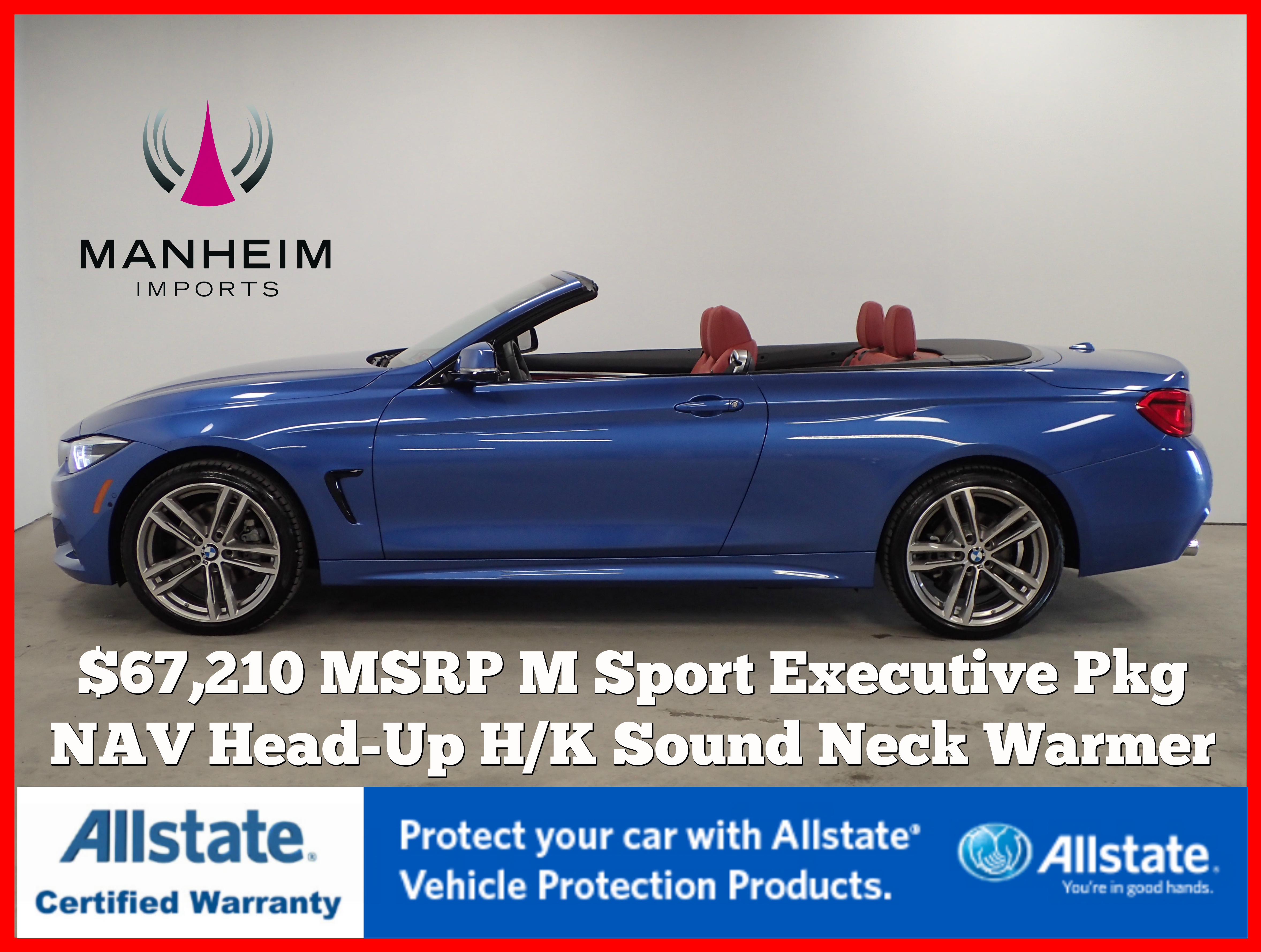 Pre-Owned 2019 BMW 430i xDrive M Sport Convertible