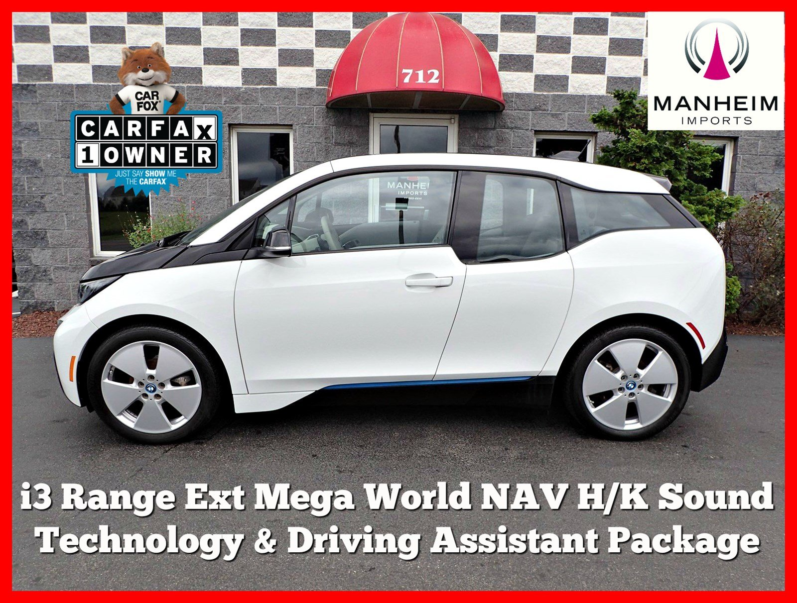 Pre-Owned 2016 BMW i3 REX Mega World Tech