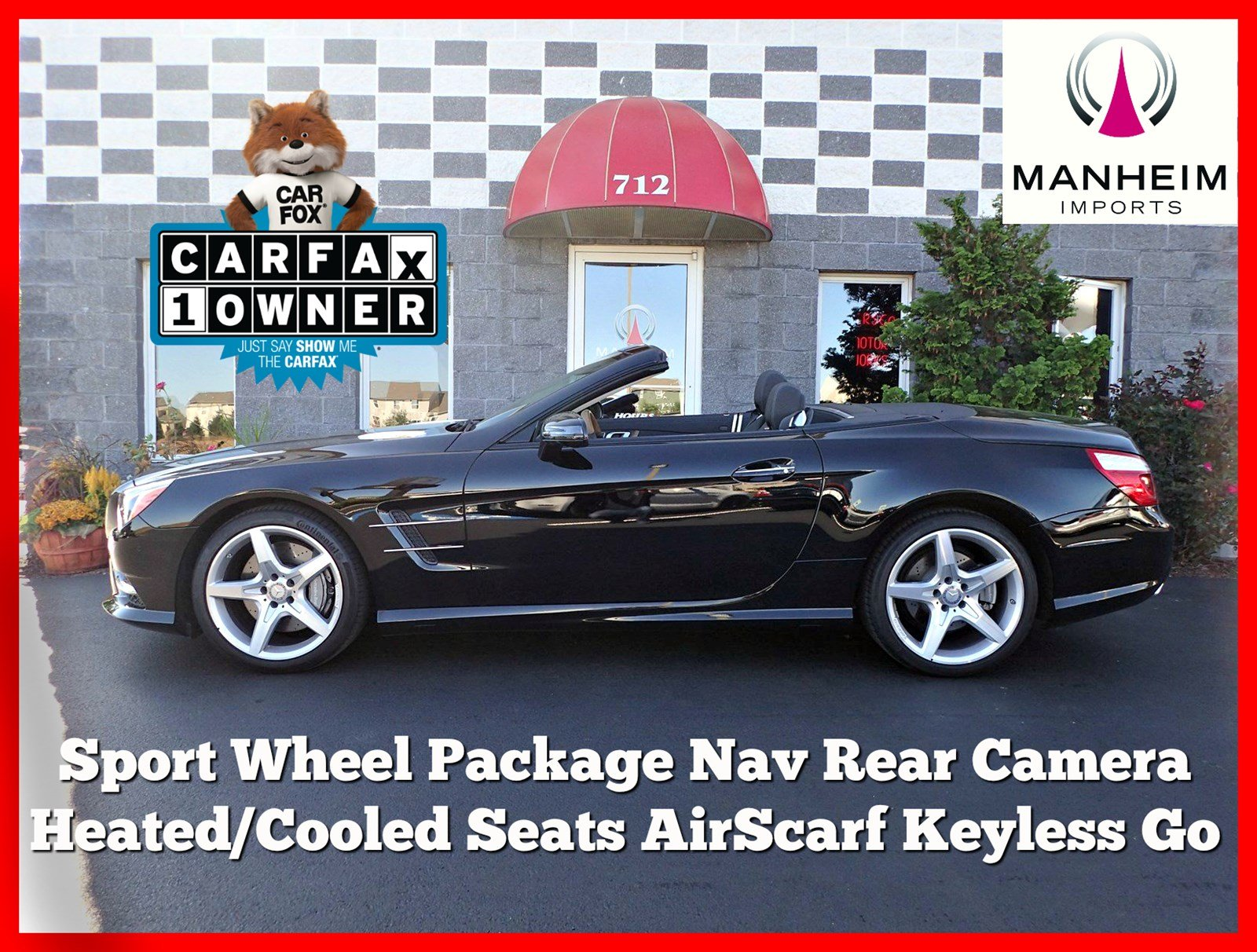 Pre-Owned 2015 Mercedes-Benz SL 400 Convertible