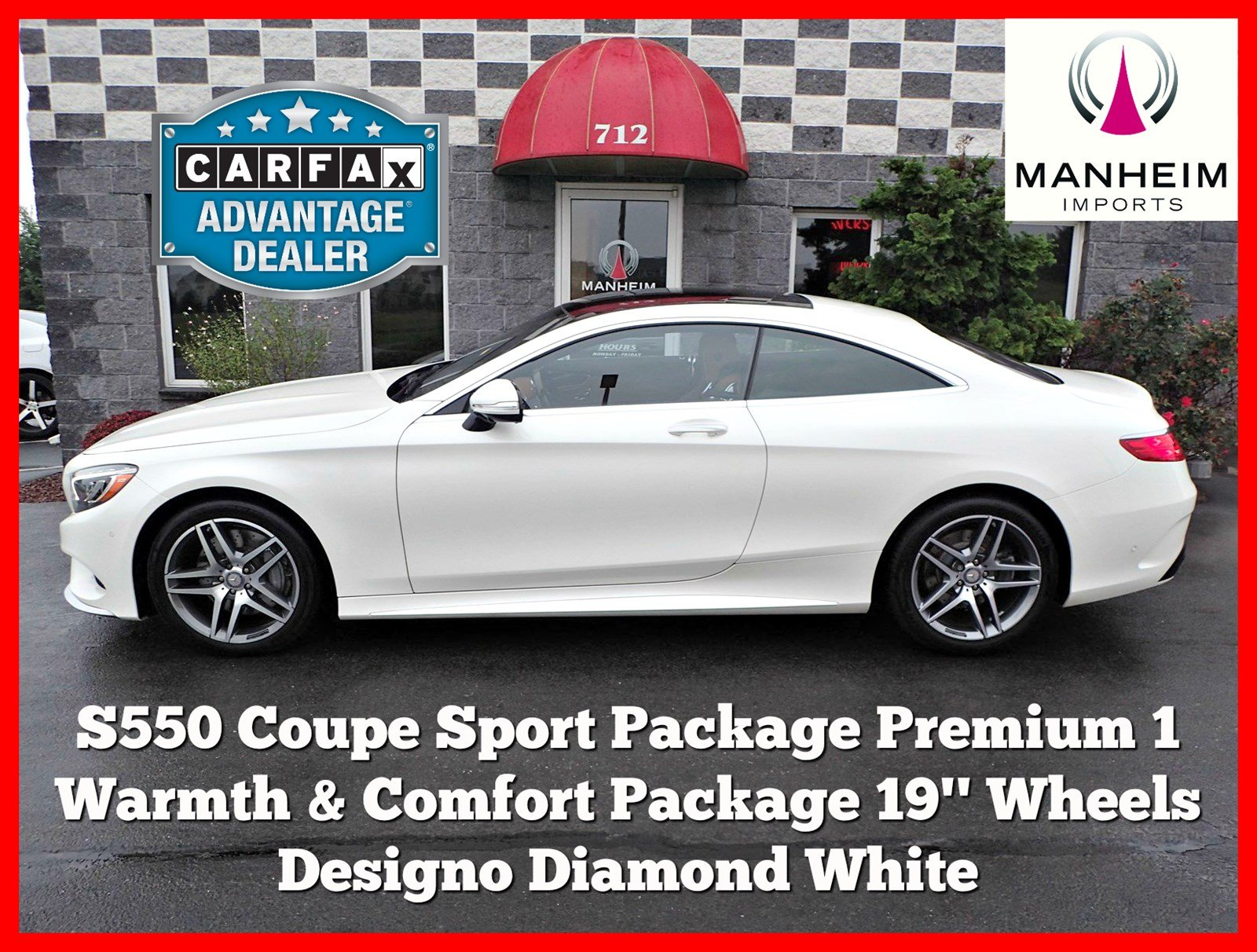 Pre Owned 2016 Mercedes Benz S 550 4 Matic Coupe Sport Package Coupe