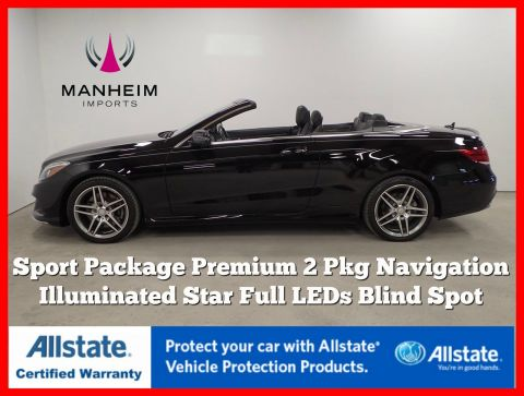 Pre-Owned 2016 Mercedes-Benz E 550 Convertible Sport Package